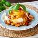 Smetanové tagliatelle s krůtím masem a sušenými rajčaty