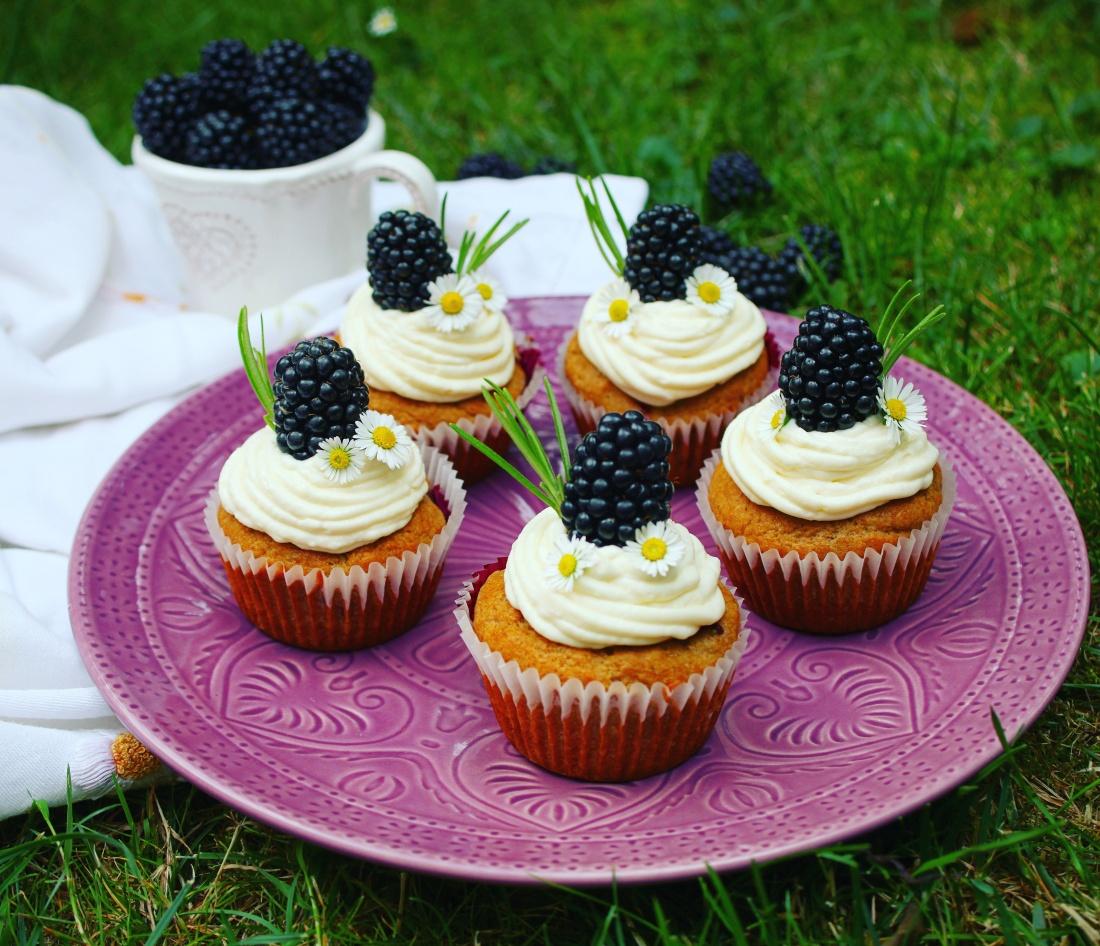 Zdravé cupcakes s ostružinami